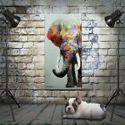 Modern style handpainted elephant on canvas