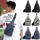 Men Chest Pack Messenger Sling Sport Travel Crossbody Shoulder Bag Headset