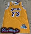 New Dennis Rodman Swingman Gold Jersey #73 Los Angeles Lakers Mens S-XXL USA