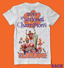 2018 National Champions Clemson Tigers 2 Sided Shirt Death Valley LOOK! WOW ! <br/> Featuring on Shirt:Trevor Lawrence,Etienne,Higgins+more