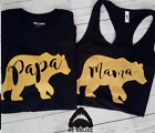 Mama Papa Baby Bear T Shirt Mothers Day Family Matching Mommy Daddy Tshirts GIFT