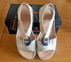 Cushion Walk Ladies leather lined Beige Comfort Wide E to Extra Wide EEE Sandal