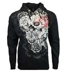 Silver Star Mens L Large Sweater Sweatshirt Hoodie UFC MMA Zip Up Hooded NEW