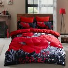 Egyptian Comfort Ultra Soft Duvet Cover Set for Comforter Bedding Red Flower image