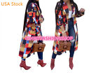 Women Plaid Contrast Color Casual Turn Down Collar Long Sleeve Long Jacket Coat