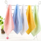 1pc Square Solid Color Bamboo Fiber Soft Face Towel Cotton Hand Bathroom Towel
