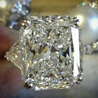Huge White Sapphire Gems 925 Silver Wedding Engagement Ring Jewelry Size 6-10