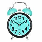 Silent Analog Alarm Clock Vintage Retro Classic Night Light Extra Loud Twin Bell