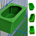 Green Bird Parrot Food Water Bowl Pigeons Pet Cage Feeder Feeding Supplies 2019