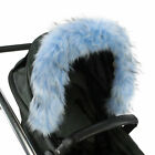 Pram Fur Hood Trim Attachment For Pushchair Compatible With Mothercare