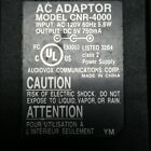 Audiovox CNR-4000 AC DC Power Supply Adapter Charger Output 5VDC 750mA