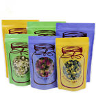 Clear Window Zipper Bags 10x16cm Stand Up Plastic Bottle Printed Packaging Pouch