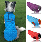 Waterproof Warm Autumn Winter Dog Pet Coats Clothes Padded Vest Jacket Large UK