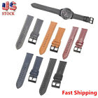 22mm Quick Release Leather Watch Band Wrist Strap For Fossil Q Founder Gen 1 / 2 image