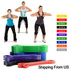Resistance Bands Natural Latex Loop Pull Up Assist Band Exercise Gym Fitness image