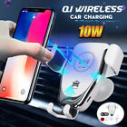 Car Qi Wireless Charger Magnetic Air Vent Mount Phone Holder For Samsung iPhone