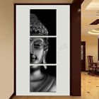 3Pcs Set Black Buddha Canvas Print Art Painting Wall Picture Home Decor