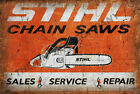 STIHL CHAIN SAW SIGN. ADD YOUR NAME OR COMPANY DETAILS & MAKE A GREAT GIFT