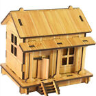 Vintage Kids DIY 3D Wooden Jigsaw Puzzle Adult Simulation Toys House OO
