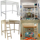 3FT Single Loft Bed High Sleeper Cabin Bed Wooden Bunk Bedding Frame with Ladder