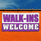 Vinyl Banner Sign Walk-Ins Welcome #1 Business Marketing Advertising purple $14.99 USD on eBay