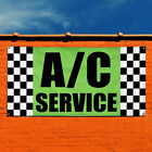 Vinyl Banner Sign Ac Service #7 Business Outdoor Marketing Advertising Yellow $445.47 USD on eBay