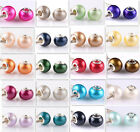 DIY 20pcs silver pearl big hole spacer beads fit Charm European Bracelet Jewelry image