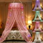 US Room Elegant Lace Bed Mosquito Mesh Canopy Round Dome Princess Bedding Net image