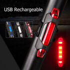 1 LED USB Rechargeable Bike Tail Light Bicycle Safety Cycling Warning Rear Lamp