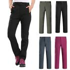 AU Women Soft Shell WaterProof Thermal Trousers Outdoor Hiking Golf Winter Warm