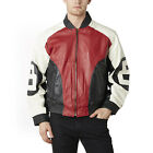 8 Ball Bomber Leather Jacket $104.99 USD on eBay
