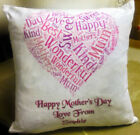 Personalised Mother's Day Word Art Cushion Throw cushion, Scatter Cushion,