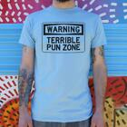 Warning: Terrible Pun Zone Men's T-Shirt | Funny | Meme