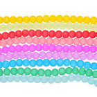 FROSTED GLASS ROUND SPACER BEADS 8mm for DIY Jewelry Beading Crafts Supplies