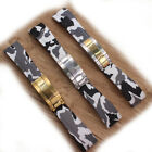 20mm White Camo Rubber Watch Strap Band With Clasp For Oysterflex Deepsea