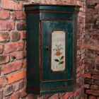 Antique Painted Swedish Hanging Corner Cabinet