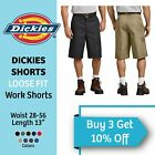 DICKIES MEN'S WORK SHORTS 13 INCH LOOSE FIT MULTI TECH POCKET UNIFORM #42283