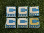 Detroit LIGHT BLUE Captain C Patch for Jersey Shirt Hoodie Football SHIPS TODAY