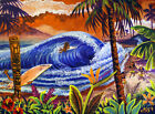 Billabong Surfing Tiki Surf Competition Hawaiian Island Kitsch CBjork PRINT