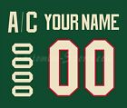 Minnesota Wild Customized Number Kit for 2017-Present Home Jersey $34.99 USD on eBay
