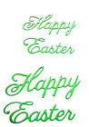 """8 """"Happy Easter"""" Die Cuts, 4 Of 2 Sizes. Easter, Sentiment, Words, Cl."""