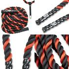 "Battle Ropes Poly Dacron 1.5"" 2"" 30' 40' 50' Lengths Workout Rope Single"