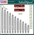 Bar Pins Spring Bar Pins Watchband Watch Stainless Steel  Band  4 PCS 1.8 mm