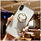 For Samsung S10+ Note 9 Fashion Clear Case Cover & 3D Bling Diamond Stand Holder