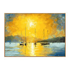 YA186 Hand-painted oil painting on canvas Sunrise at sea Home decor
