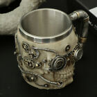 3D Stainless Steel Skull Mug Beer Cup Tankard Gothic Display Cup 300ml
