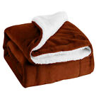 Warm Couch Sofa Blanket Flannel Fleece Bed Blankets Throw Rugs 130x160cm