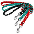 Strong Nylon Dog Lead With Breathable Padded Handle Dot Print Walking Dog Leads