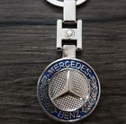 Keychain Mercedes Benz Logo Keychain Creative Double-sided Epoxy Metal Keychain