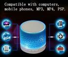 BLUETOOTH MINI SPEAKER LED flashing wireless rechargeable portable sound & music